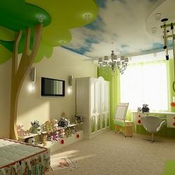 Лесной потолок в детскую
