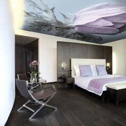 Потолок в спальню с цветами в Гомеле