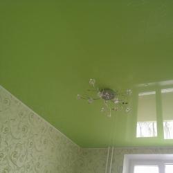 Зеленый потолок в спальню в Гомеле