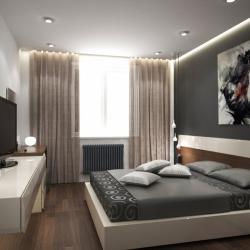 Серый потолок в спальню в Гомеле