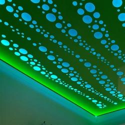 Потолок в спальню с освещением в Гомеле