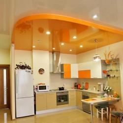 Оранжевй потолок на кухню в Гомеле