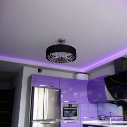 Неоновый потолок на кухню в Гомеле
