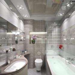 Двухуровневый потолок в туалете в Гомеле