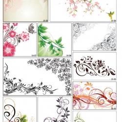 Фотопечать лиственные орнаменты