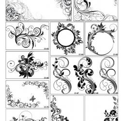Фотопечать орнаменты черно-белые