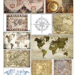 Фотопечать карты географические