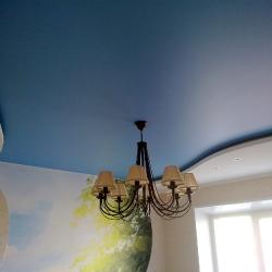 Стильный сатиновый потолок в Гомеле